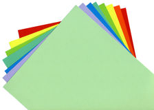 Colored paper Stock Photo