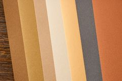 Colored paper in autumn colours Royalty Free Stock Image