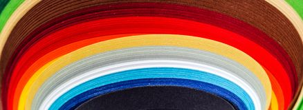 The colored paper Royalty Free Stock Image