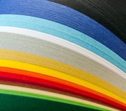 The colored paper Stock Image