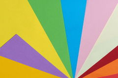 Colored paper background in a fan pattern. Melbourne 2017 Stock Image