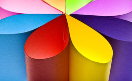 Colored paper background shaped like flower Royalty Free Stock Photography