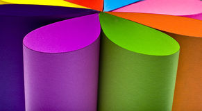 Colored paper background shaped like flower Royalty Free Stock Image