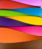 Colored paper background shapes Royalty Free Stock Image