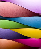 Colored paper background shapes Stock Photos