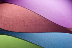 Colored paper background shapes Stock Images