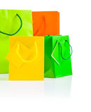 Colored paper bags  Royalty Free Stock Image