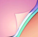 Colored paper with bent corners Stock Photography