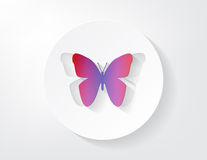 Colored Paper Butterfly Royalty Free Stock Photos