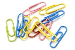 Colored paper-clip Stock Photo