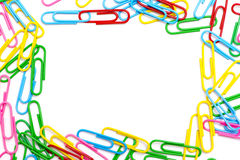 Colored paper clip Royalty Free Stock Image