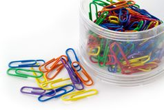 Free Colored Paper Clips Stock Images - 1305094