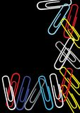Colored paper clips Stock Image