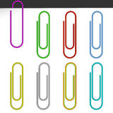 Colored paper clips. Royalty Free Stock Photos
