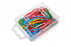 Colored paper clips Royalty Free Stock Photography