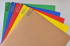 Colored paper clips Royalty Free Stock Photo