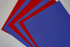 Colored paper fan on a white background. Stock Photo