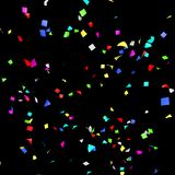 Colored paper in flight Royalty Free Stock Image