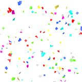 Colored paper in flight Royalty Free Stock Photo