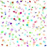 Colored paper in flight isolated on a white background Stock Photo