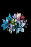 Colored paper flowers Stock Photography