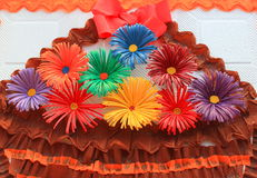 Colored paper flowers Royalty Free Stock Photography