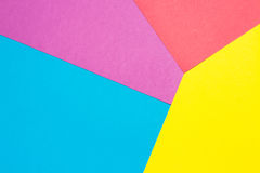 Colored paper in geometric flat. Stock Images