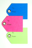 Colored Paper Gift Tags Royalty Free Stock Photo