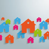 Colored Paper Houses Background PiAd Royalty Free Stock Photography