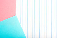 Colored paper isolated on vertical striped Royalty Free Stock Images