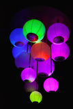 Colored paper lantern Royalty Free Stock Images
