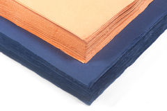 Colored paper napkins Royalty Free Stock Image
