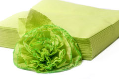 Colored paper napkins Royalty Free Stock Photos