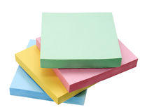 Colored paper for notes Royalty Free Stock Photography