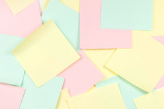 Colored paper notes Stock Photos
