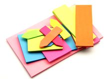 Colored paper for notes Stock Image