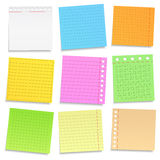 Colored Paper Notes Royalty Free Stock Photo