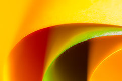Colored Paper. Orange and green colored paper Royalty Free Stock Image