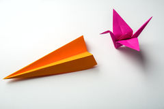 Colored paper origami Stock Photos