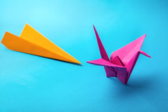 Colored paper origami Royalty Free Stock Photo