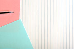 Colored paper and pen Stock Photo