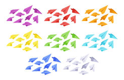 Colored paper planes Royalty Free Stock Photos