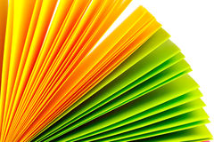 Colored paper records Stock Images