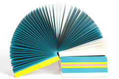 Colored paper records Stock Image