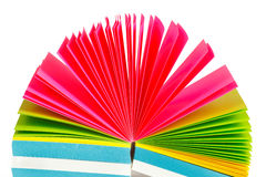 Colored paper records Royalty Free Stock Photo