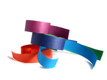 Colored paper ribbon Royalty Free Stock Image