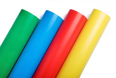 Colored paper rolls Royalty Free Stock Photography