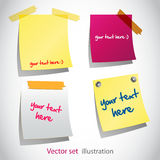 colored paper sheets Stock Images