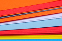 Colored paper sheets Royalty Free Stock Photography