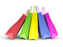 Colored paper shopping bags Stock Image